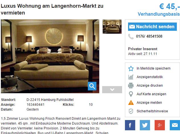 0176 48541508 luxus wohnung am langenhorn markt zu vermieten 22415. Black Bedroom Furniture Sets. Home Design Ideas