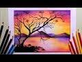 Dibujar Paisajes Con Lapices De Colores