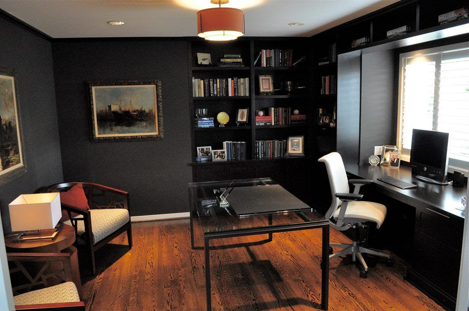 Contemporary Home Office with Ave Six Mid-Back Trinidad Office Chair