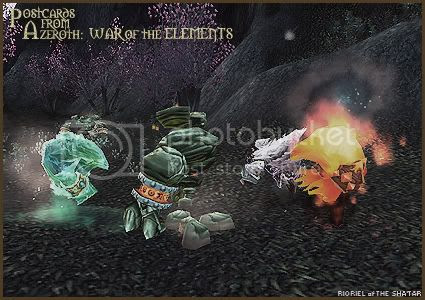 Postcards of Azeroth: War of the Elements