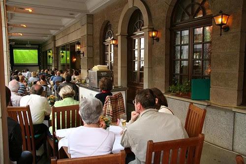 World Cup TV in a Berlin Café