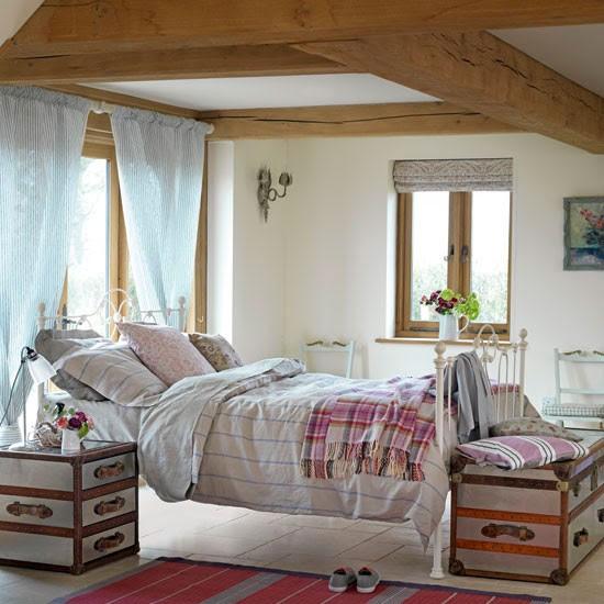 Pink country bedroom   Bedroom design idea   Floral bedlinen   Image   Housetohome