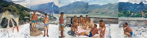 Liu Xiaodong, Hot bed no. 1 (+ 4 others; set of 5)