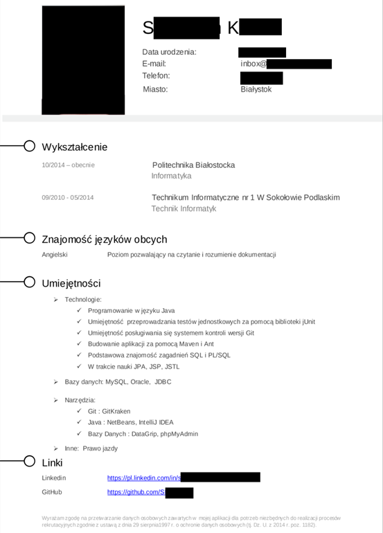 List Motywacyjny Programista