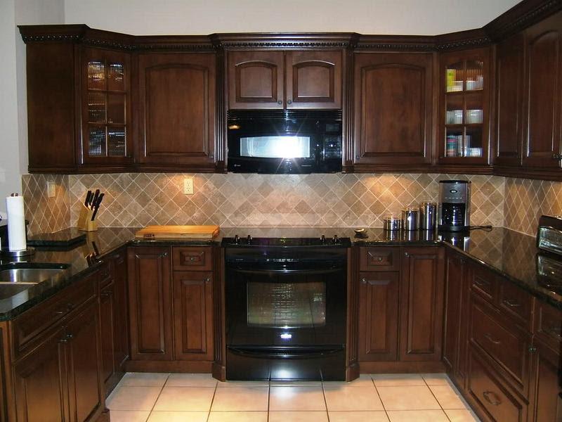 Home Architec Ideas Kitchen Design Brown Cabinets