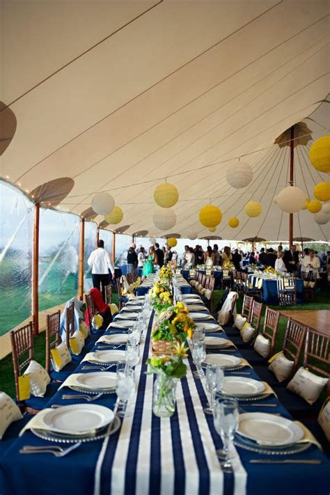 blue and yellow reception ideas   blue and yellow wedding