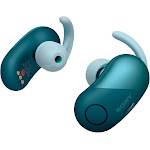 Sony WF-SP700N Bluetooth Wireless In-Ear Earphones with Mic and NFC - Noise-Canceling - Blue