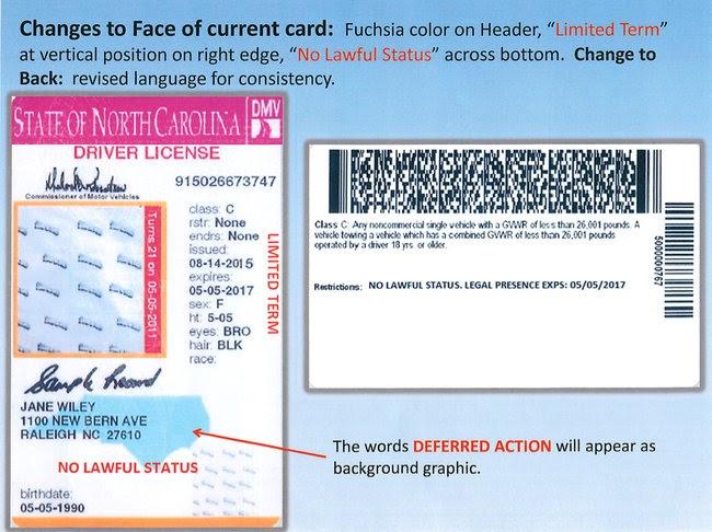 Carolina 2013 2013 Drivers License North License Carolina North Drivers