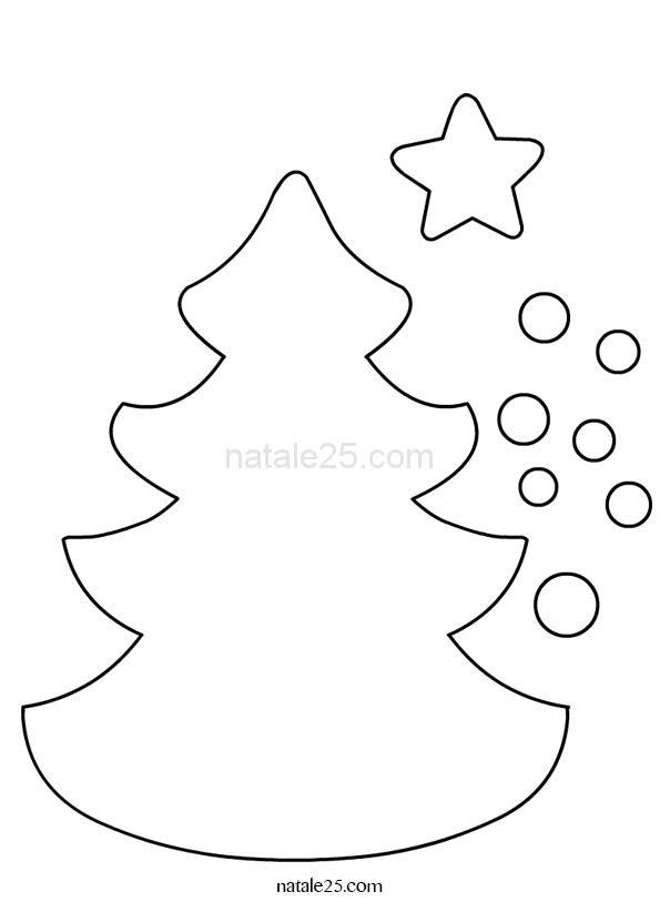 Sagoma Albero Di Natale Da Colorare Immagini Di Albero Natale Da