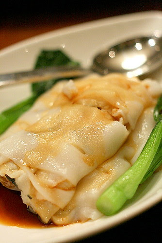 Steamed cheong fan with sliced fish (S$4.80)