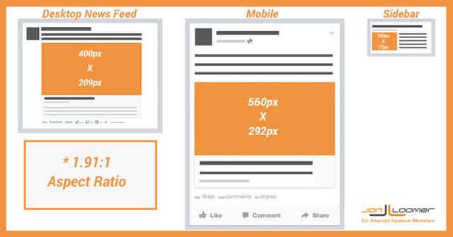 Facebook - Imagens ganham novas medidas