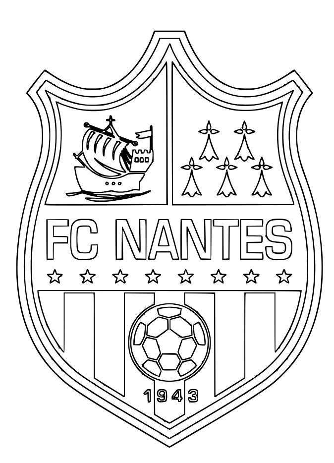 Blason Fc Nantes Coloriage Fc Nantes à Imprimer