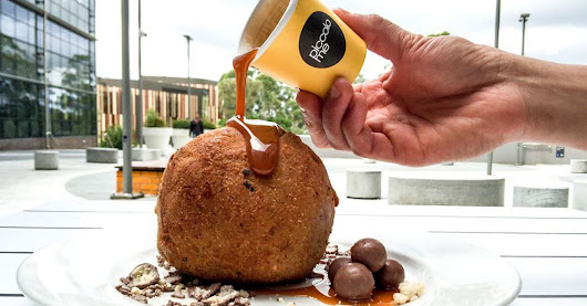 This gigantic Nutella fried ice cream ball will have you salivating for days