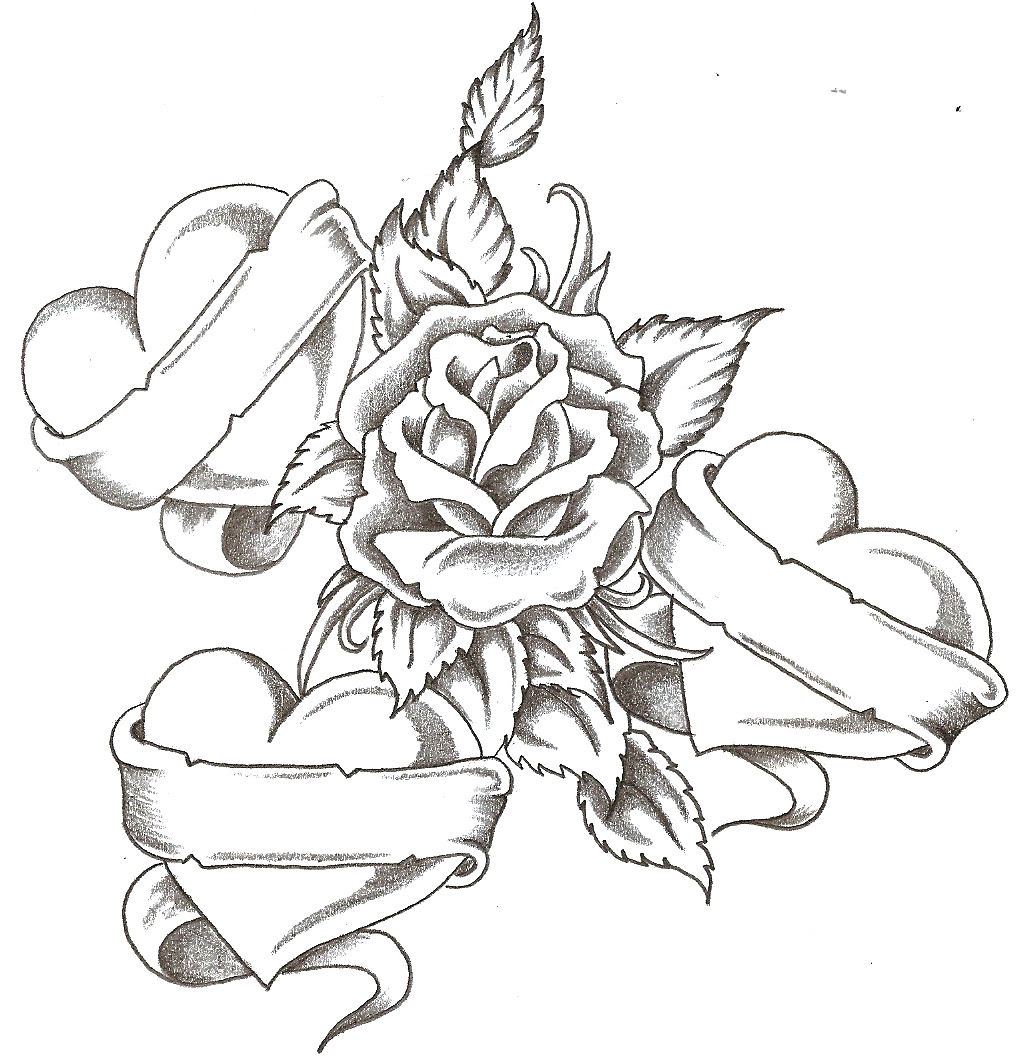 Free Roses Drawings With Hearts Download Free Clip Art Free Clip