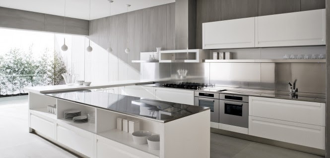 Contemporary White Kitchen kitchens from italian maker ged cucine | gawe omah