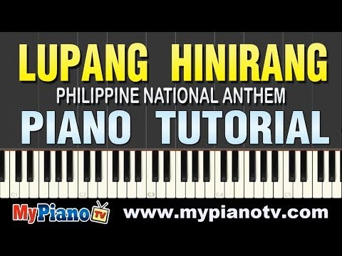 How to Play Lupang Hinirang (Philippine National Anthem) on Piano (Improved Version Piano Tutorial)