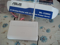 My new wireless router, installed and working!
