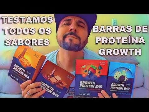BARRA DE PROTEÍNA GROWTH A CASA MAROMBA TESTOU TODOS OS SABORES CHOCOLATE CHURROS COOKIES MORANGO