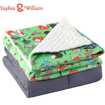 Sophia & William Weighted Blanket for Kids Zoo