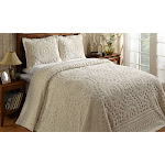 Better Trends Rio-Queen-Natural Bedspread, Ivory