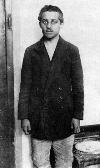 Gavrilo Princip in his prison cell at the Terezín fortress.