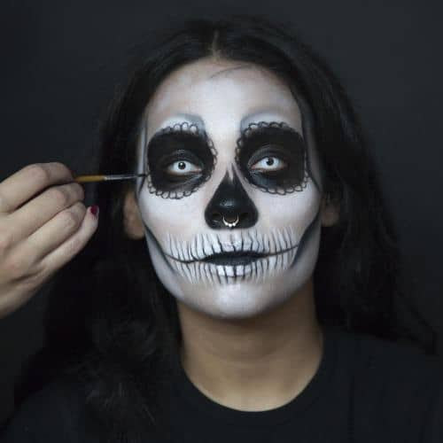 How To Day Of The Dead Inspired Calavera Makeup Tutorial