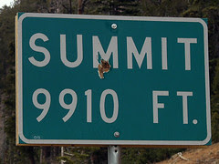 Summit Sign, with Bullet Hole (Snapshot)