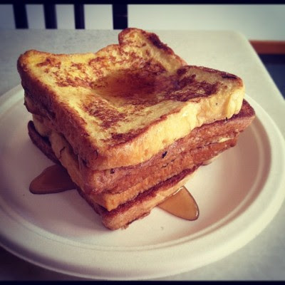 Taught our helper how to make French toast this morning and now time for me to feast! :D  (Taken with Instagram)