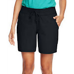Hanes Women's Jersey Pocket Short Black