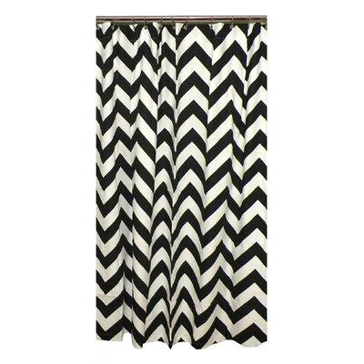 Elisabeth Michael Gray Chevron Cotton Shower Curtain | Wayfair