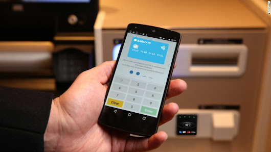 Barclays' new ATMs withdraw money with a tap of your phone