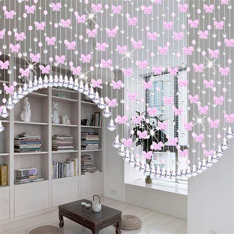 Glass Crystal Beads Curtain Window Door Decor Curtain