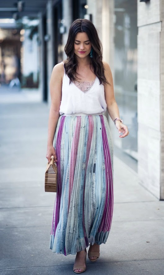 LILY PLEATED SKIRT | Houston Fashion Blog | The Styled Fox