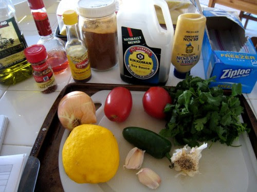 vegetables for salsa marinade