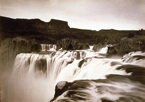 Shoshone Falls, Snake River, Idaho, View across the Top of the Falls (Wheeler Survey)