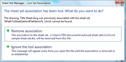 Jtb world blog how to rename a sheet set dst file to avoid this click ignore lost association and close the drawing without saving ibookread Read Online