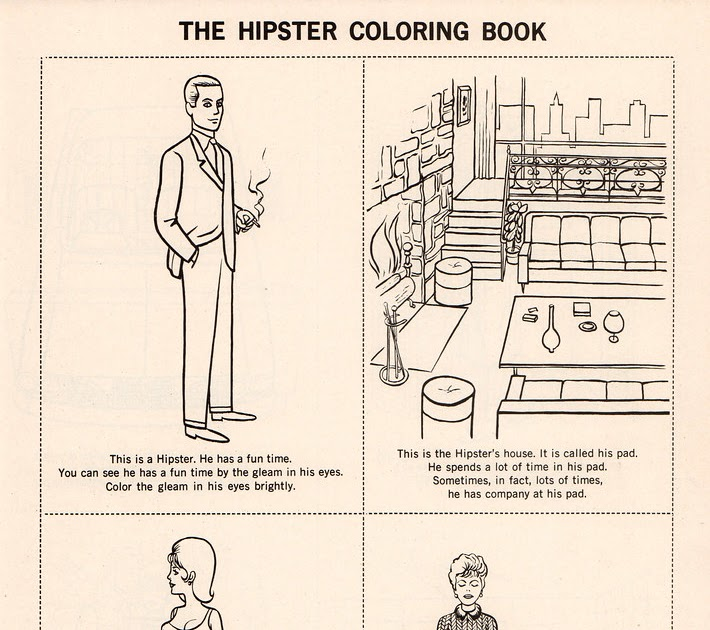 retrospace just for laughs 10 the hipster coloring book 1962 - Hipster Coloring Book