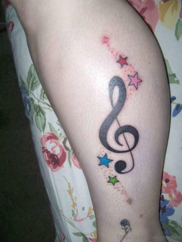 57 Ravishing Music Tattoos On Ankle