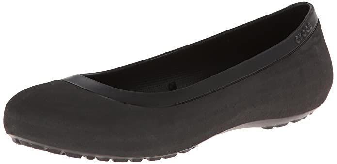 crocs Women's Mammoth Leopard Lined Flat,Black/Black,8 M US