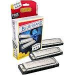 Hohner 3P1501BX Bluesband Harmonica, Pro Pack, Keys of C, G, and A Major by PhotoSavings.com