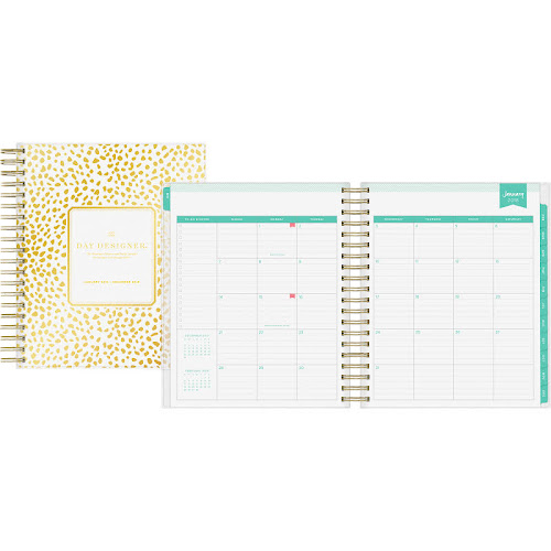 google express day designer daily monthly planner 8 x 10 gold