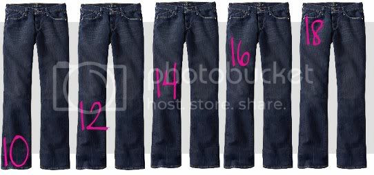 5 sizes Old Navy Jeans 10, 12, 14, 16, 18