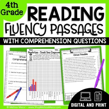 4th Grade - 30 Reading Fluency and Comprehension Passages