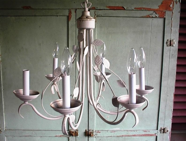 shabby chic chandelier on Etsy, a global handmade and vintage