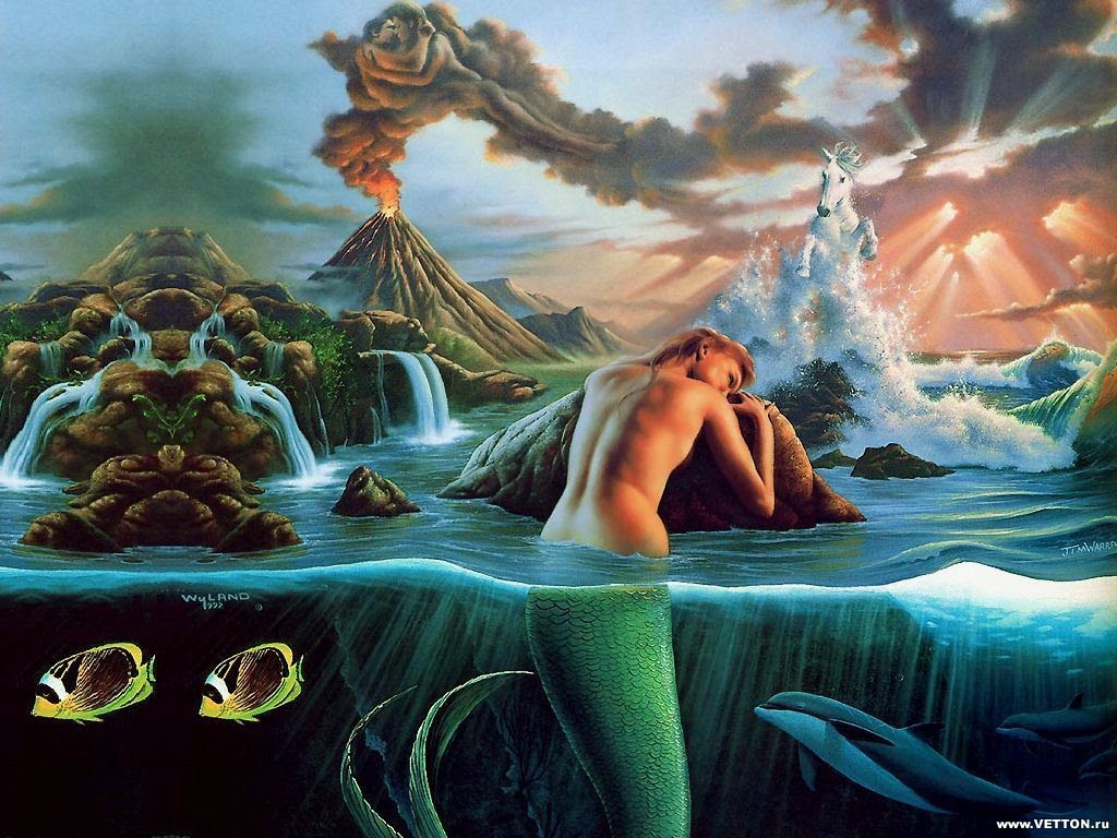 new wallpaper nice: beautiful fantasy mermaids wallpapers mermen