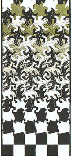 Escher Metamorfose II (1939-1940)