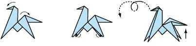 Оригами лошадь. Схема