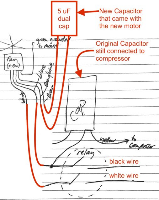 Ac Condenser Fan Motor Run Capacitor Wiring Diagram To