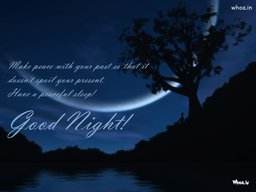 Good Night Thoughts With Blue Night Hd Wallpaper