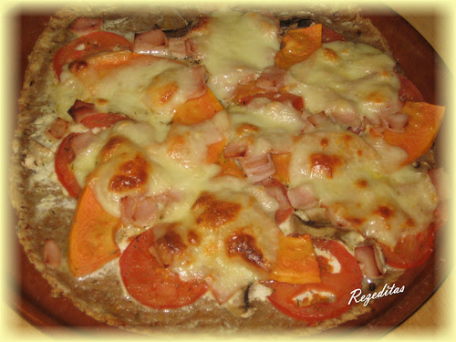 PIZZA DE LINO Y PAPAYA
